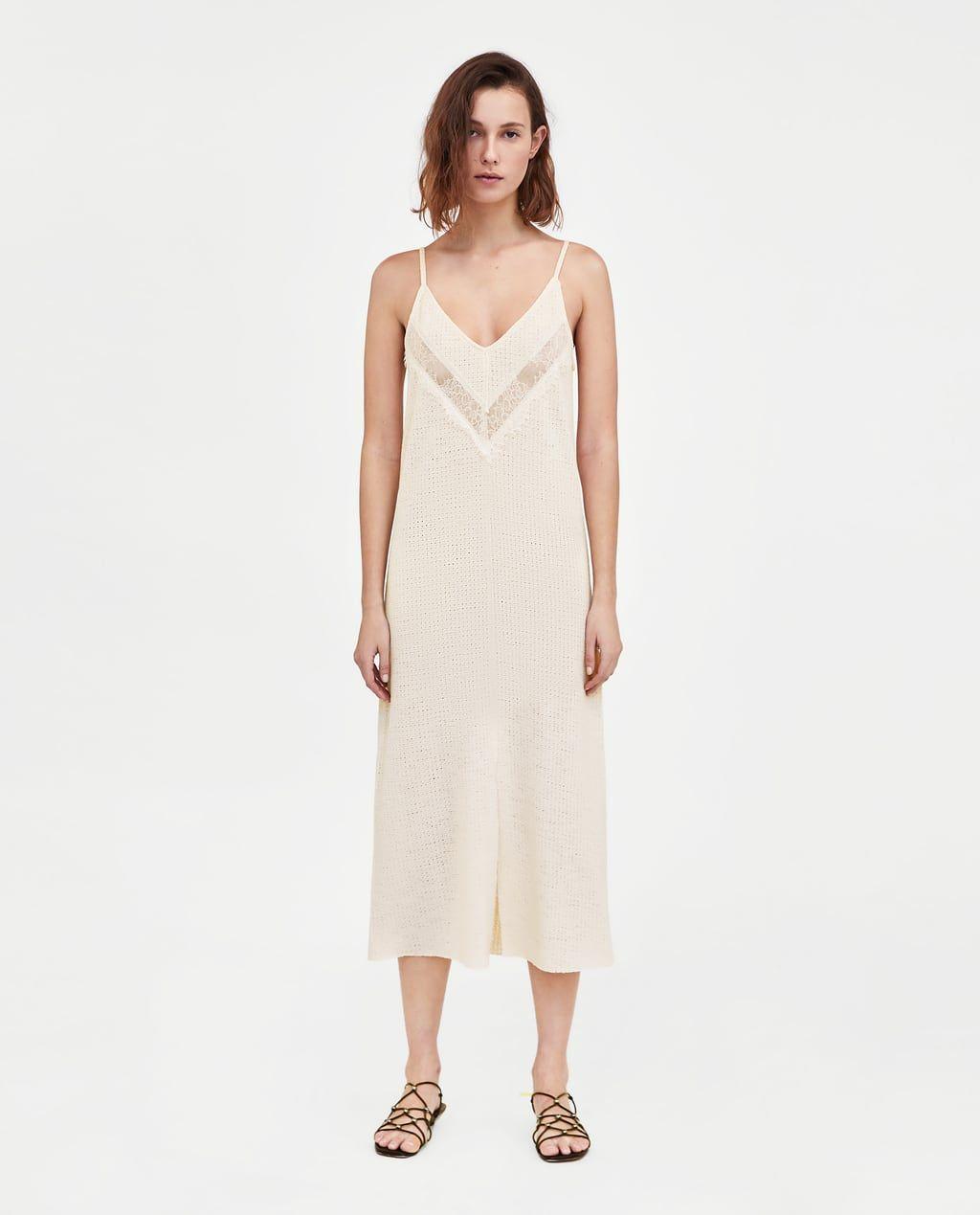 8e572e55 VESTIDO TEXTURA TIRANTES | Wedding dresses & jumpsuits | Dresses ...