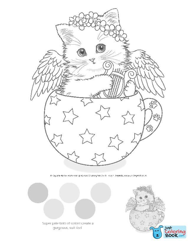 Teacup Kittens Coloring Book Kayomi Harai 9781497202269 Amazon Intended For A Kitten Feels So Good Colorin Kitten Coloring Book Kittens Coloring Coloring Books