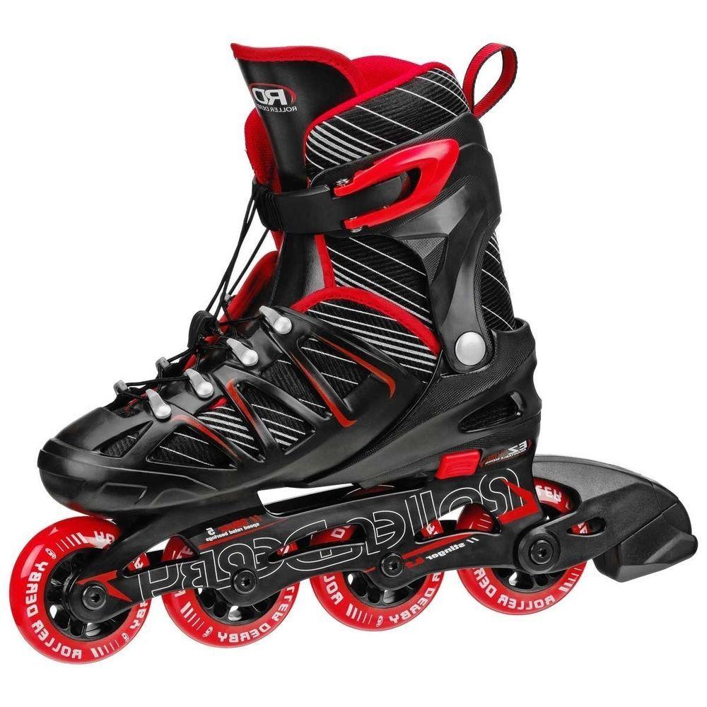 Roller Derby Inline Skates Roller Adjustable Blades Man Boy's Rollerblade Skate #RollerDerby