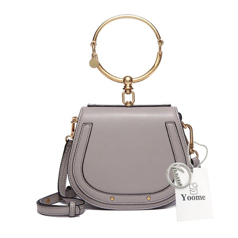 5875db6d8921 Yoome Elegant Rivets Punk Style Circular Ring Handle Handbags Messenger  Crossbody Bags For Girls