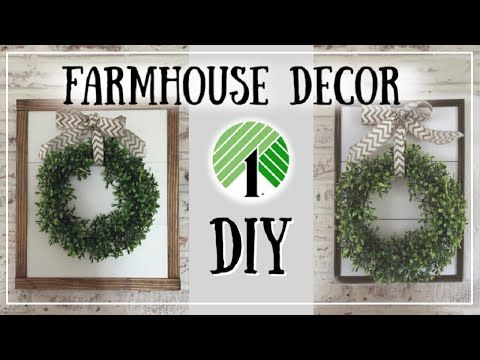 DIY Dollar Tree Farmhouse Sign + DIY Boxwood Wreath | DIY Room Decor