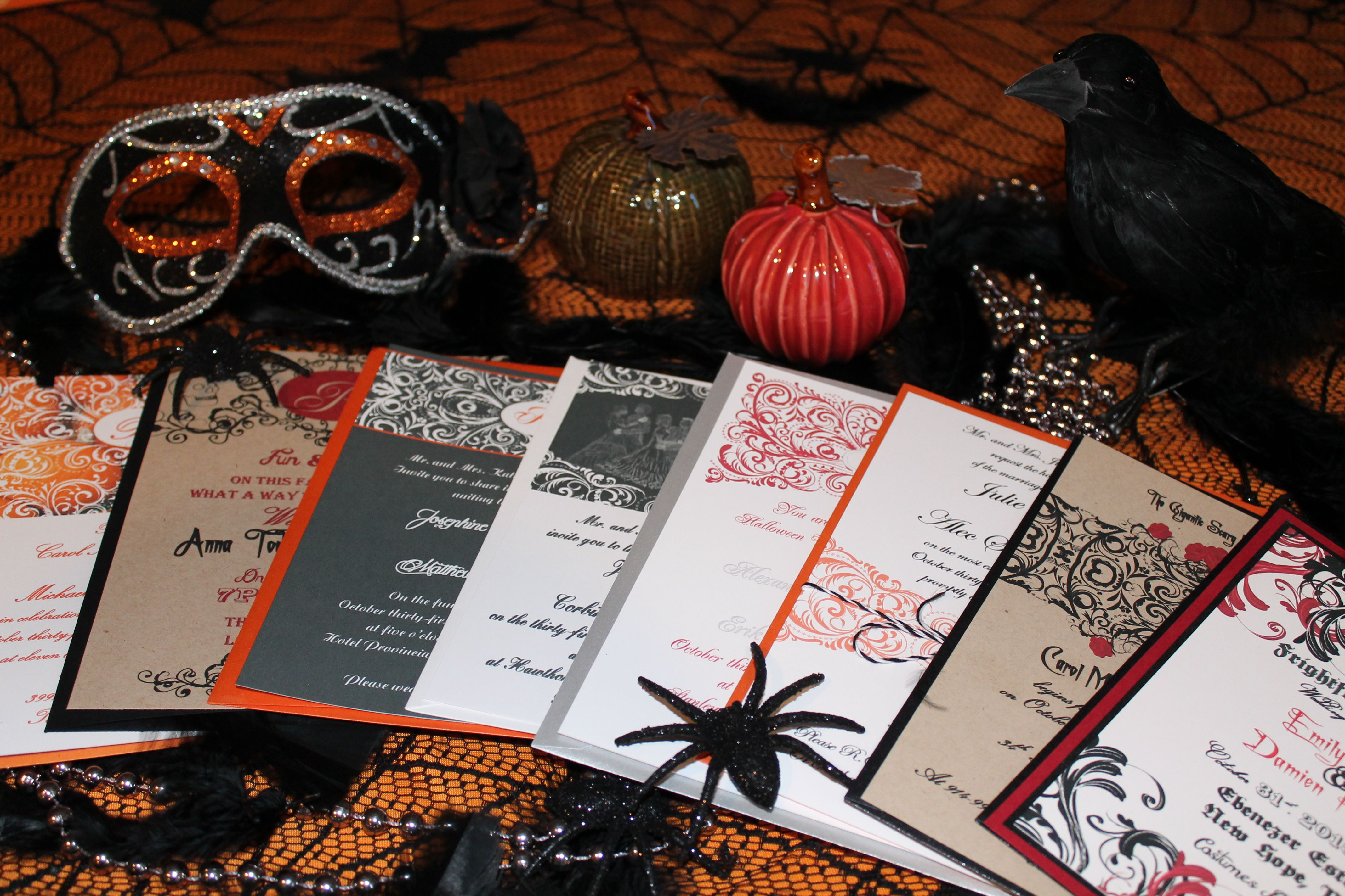 Affordable spooky halloween invitations with designs in