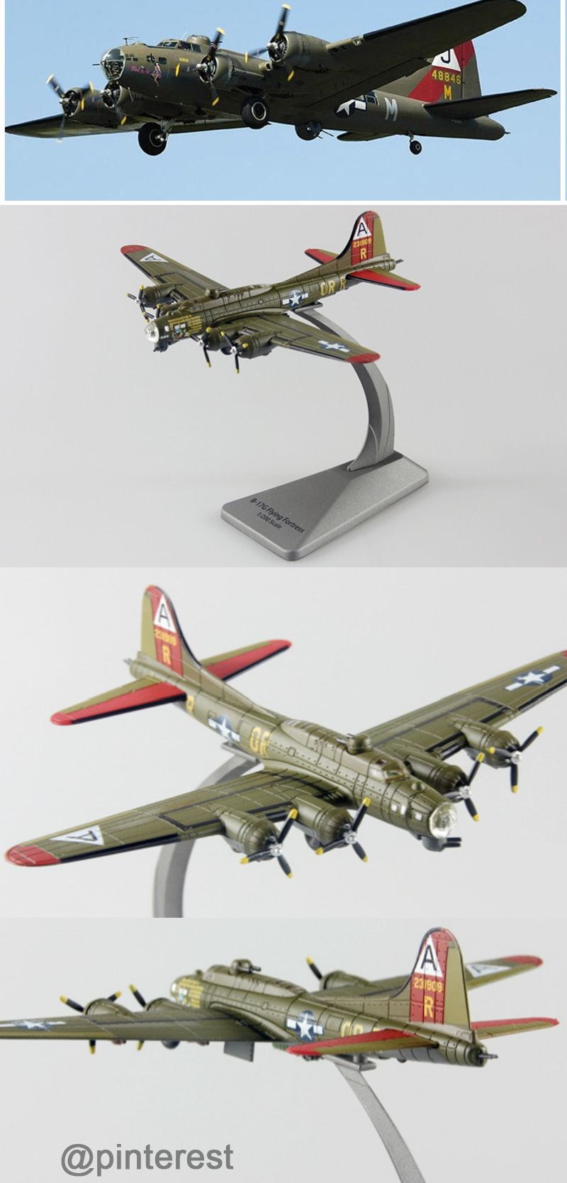 1:200 Scale Military Model Boeing B-17 Flying Fortress Bomber ...