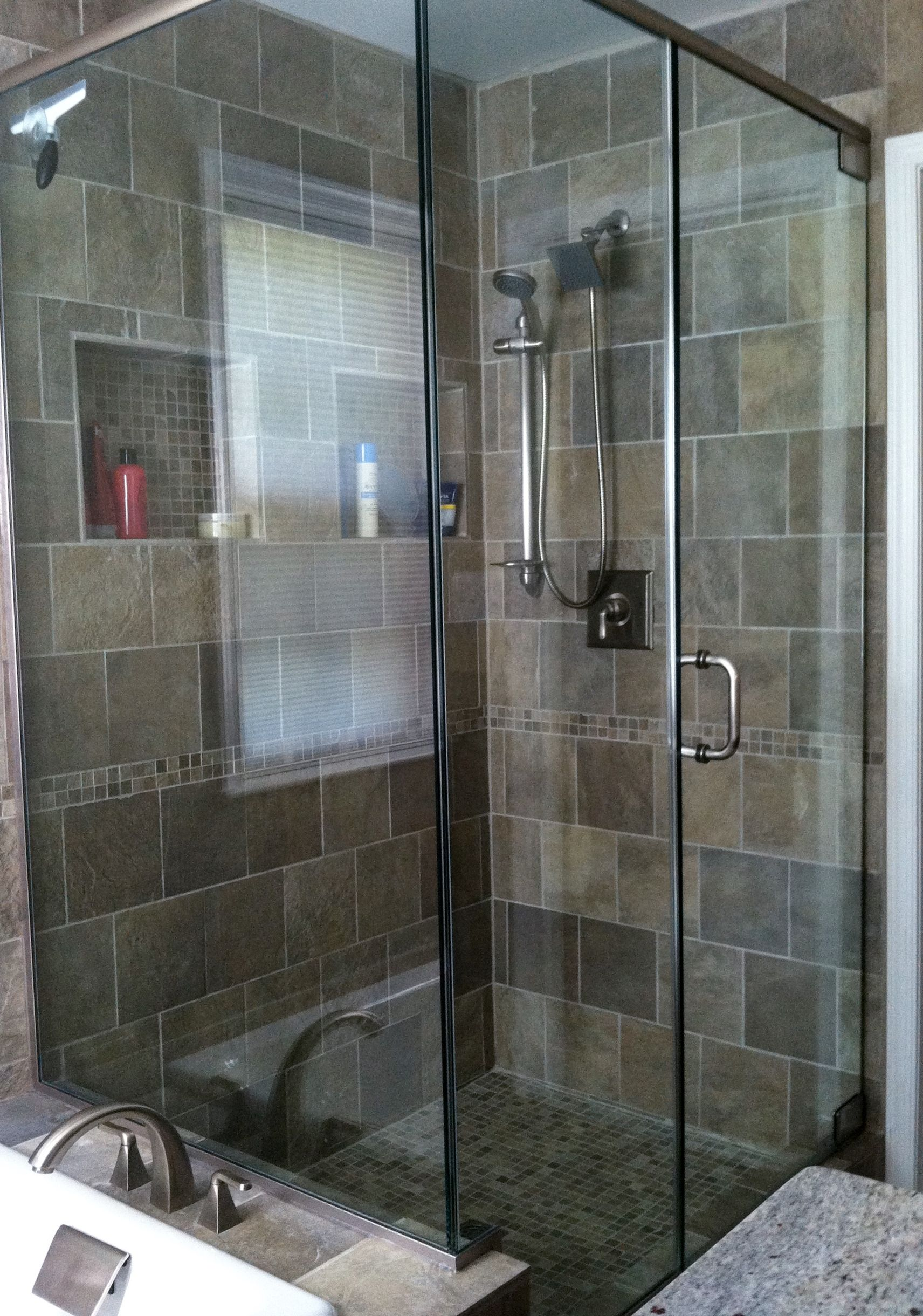 Walk In Shower With Glass Door Panels Our Bathrooms Pinterest