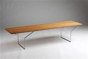 Bench, designed by Harry Bertoia for Knoll International, USA. 1950's.