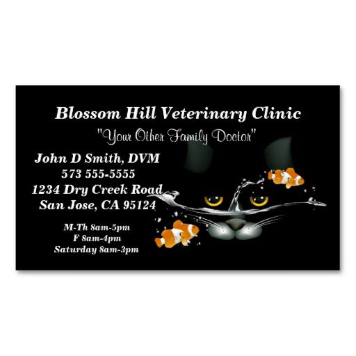 Veterinarian Business Card Veterinary Business Cards Pinterest