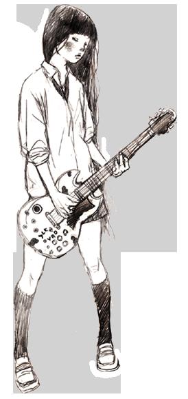 Rocker Girl Rocker Girl Girl Drawing Rocker