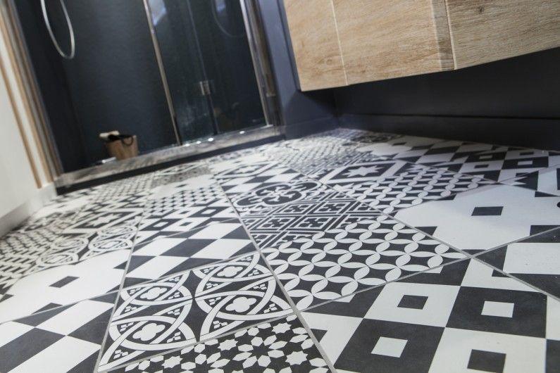 Salle de bains Noir et blanc ARTENS Vintage Bathroom Pinterest - prix pour faire une salle de bain