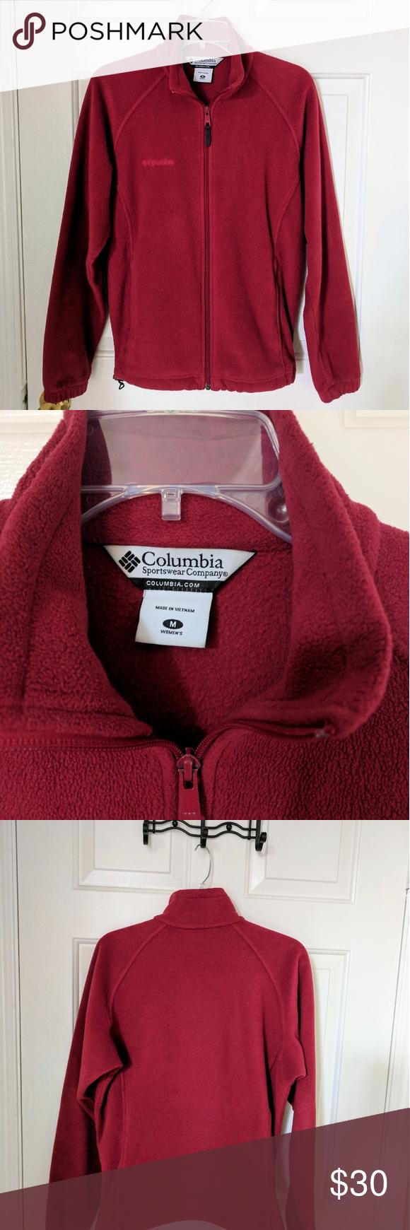Womenus columbia full zip fleece jacket red columbia fleece jacket