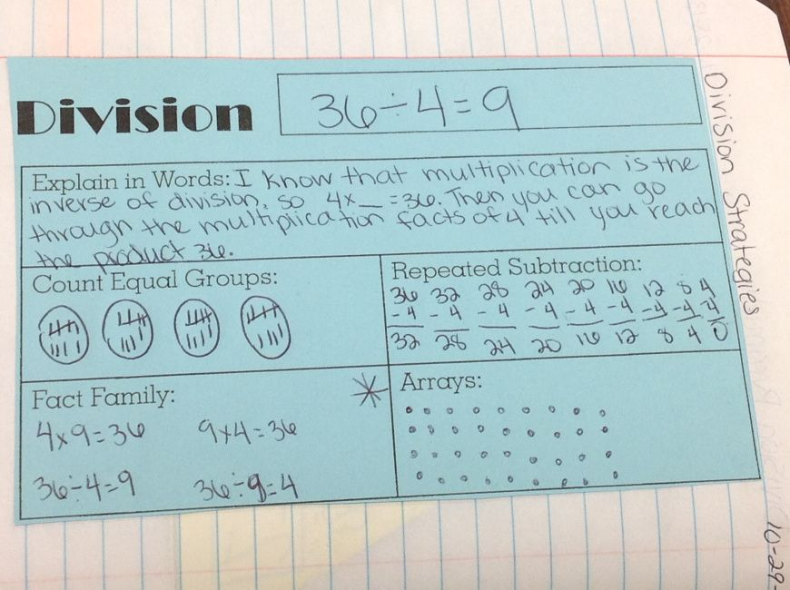 Math Notebooks-Multiplication, Division, and Word Problems | Math ...