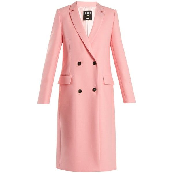 MSGM Double-breasted wool-blend coat (33.065 RUB) via Polyvore featuring  outerwear