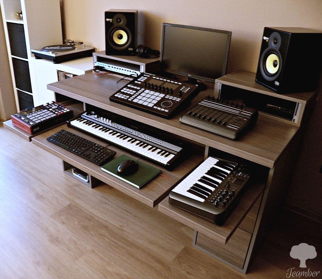 Studio Desk Pewuprodukcje By Teamber Music Studio Room Recording Studio Home Studio Desk
