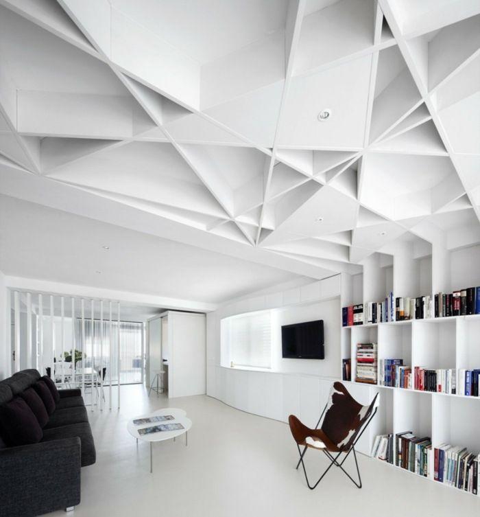 Originelles Design für die Decke mit geometrischem Look Ceiling - design schallabsorber trennwande