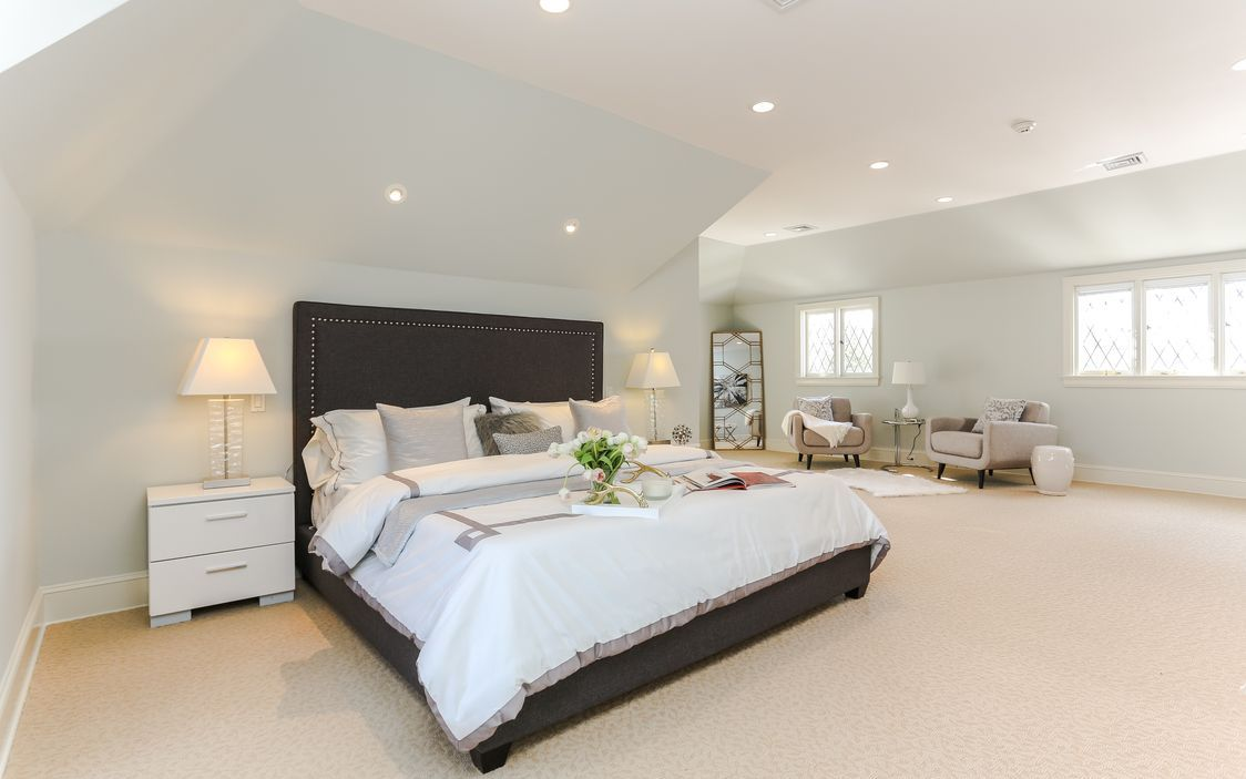 Sprawling Master Suite with sitting area, walk in closet and updated ...