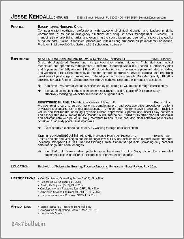 30 Med Surg Nurse Resume Cover Letter Templates Nursing Resume Examples Registered Nurse Resume Nursing Resume Template