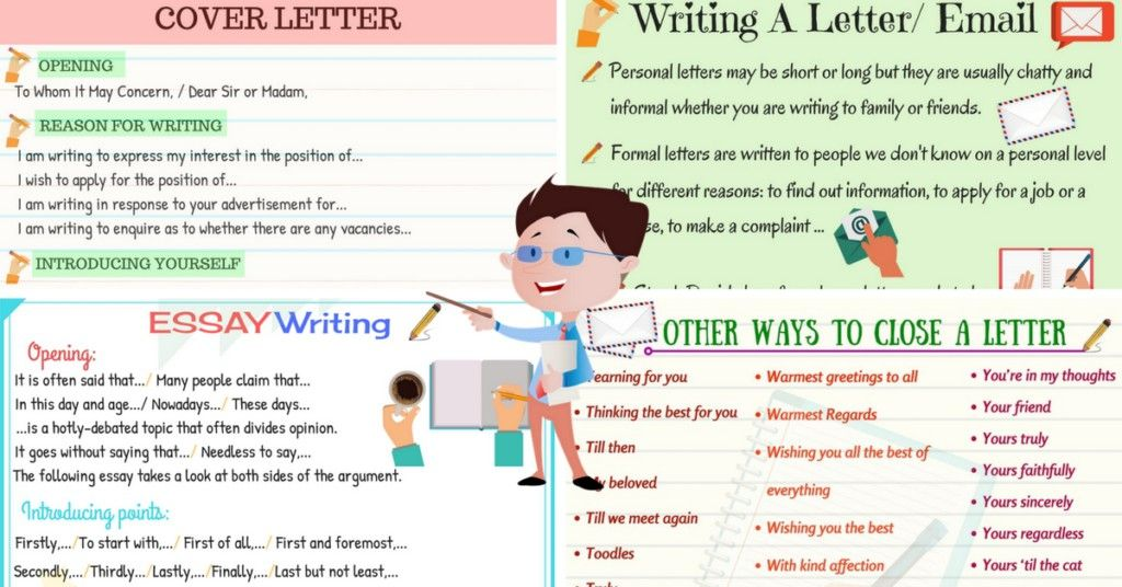 how to write a letter or an essay in english  esl for teens