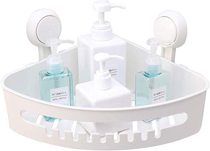 Amazon Com Taili Suction Corner Shower Caddy Bathroom Shower Shelf Storage Basket Wall Mounted Organizer For Sh With Images Shower Shelves Shower Rack Corner Shower Caddy