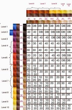 The Unknown Beauty Blog Part 5 Haircolor Formulas And The Developer Hair Color Formulas Hair Color Hair Levels