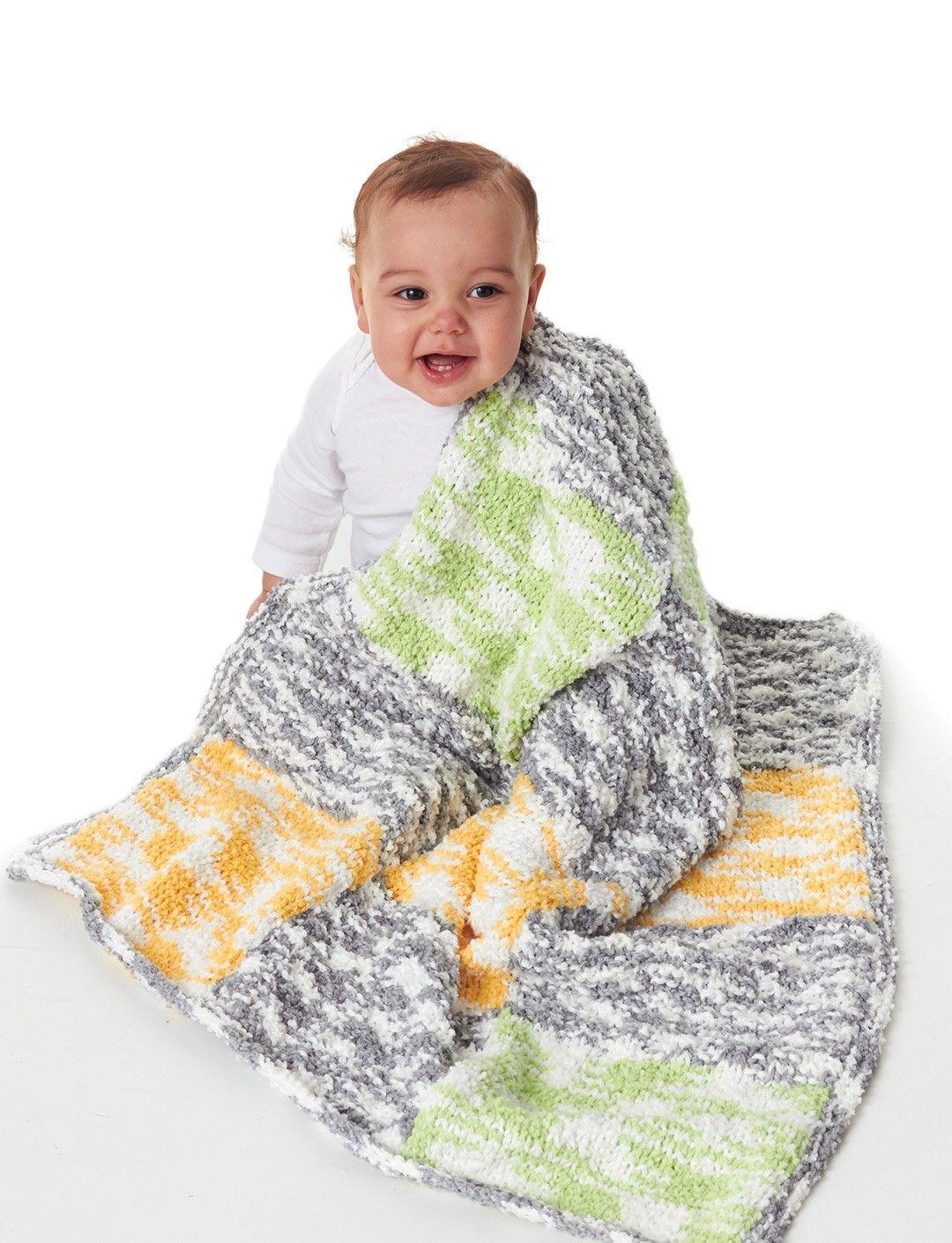 Bernat Patchwork Blanket - Patterns | Yarnspirations/ easy ...