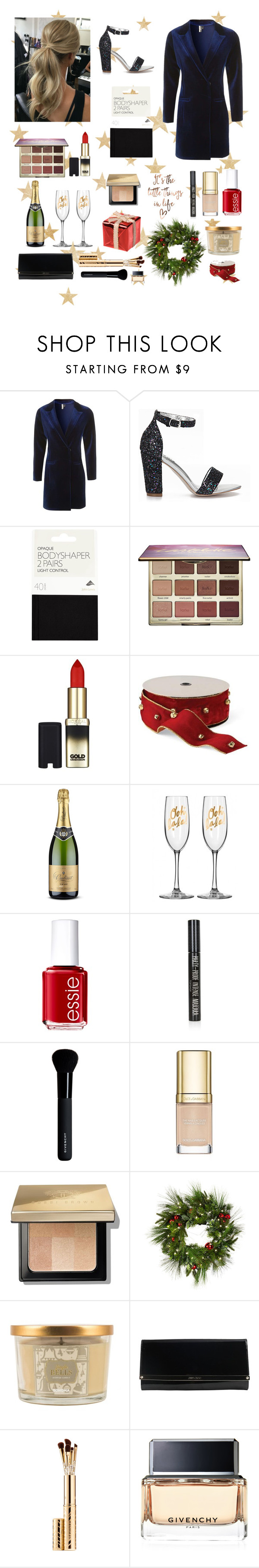 """""""Holiday party #1"""" by micalkalimi on Polyvore featuring Topshop, John Lewis, tarte, L'Oréal Paris, Essie, Givenchy, Dolce&Gabbana, Bobbi Brown Cosmetics, Improvements and SONOMA Goods for Life"""