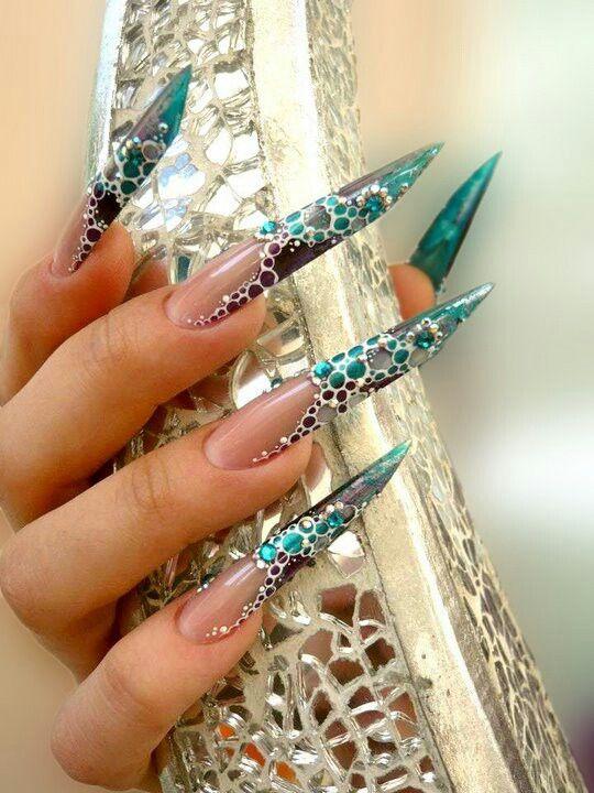 Stiletto blue | Nails Galore | Pinterest | Stilettos, Gel acrylic ...