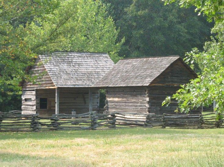 Cherokee Houses Common Cherokee Farmstead Would Have