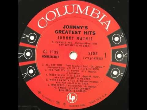 """Johnny Mathis' """"Johnny's Greatest Hits"""" album of 1957 ... 