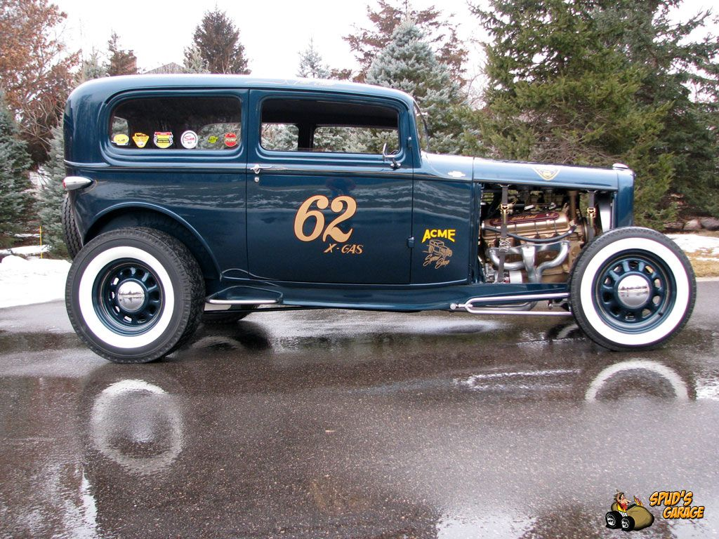 spud 39 s garage 1932 ford tudor hot rod hotrod pinterest. Black Bedroom Furniture Sets. Home Design Ideas