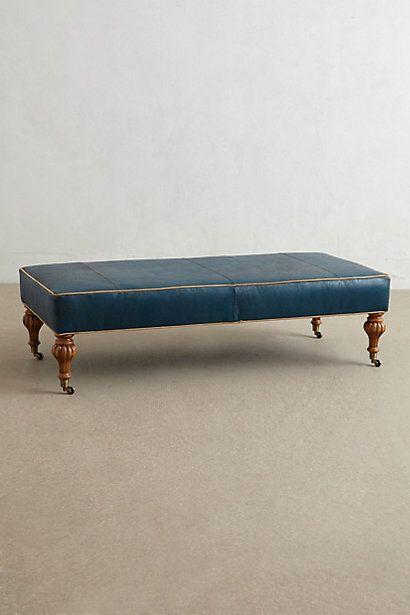 Banco Otomana de cuero / Leather Bench Ottoman #furniture #sofas ...