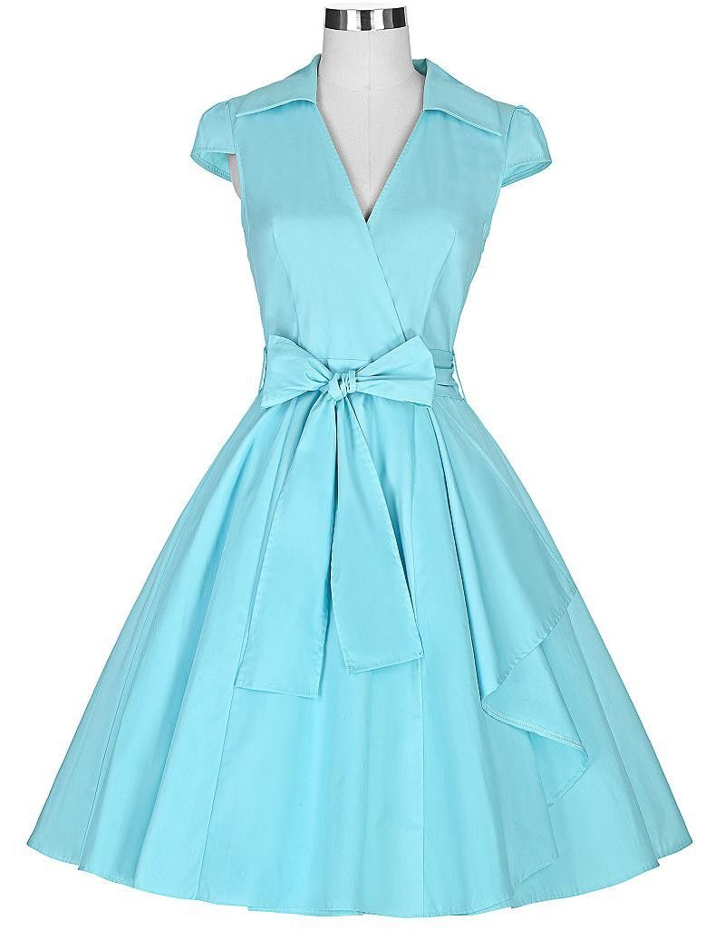 Audrey Hepburn Summer Style Women Vintage Swing robe Rockabilly ...