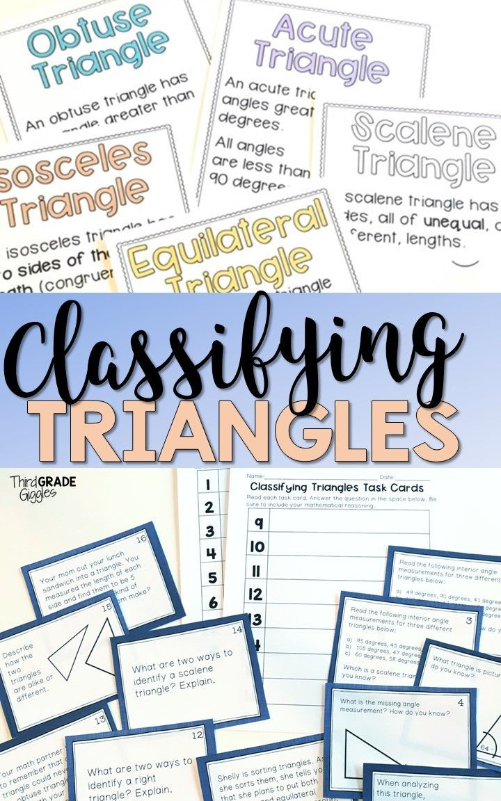 Classifying Triangles | ***Sweet Math Resources for all Grades ...