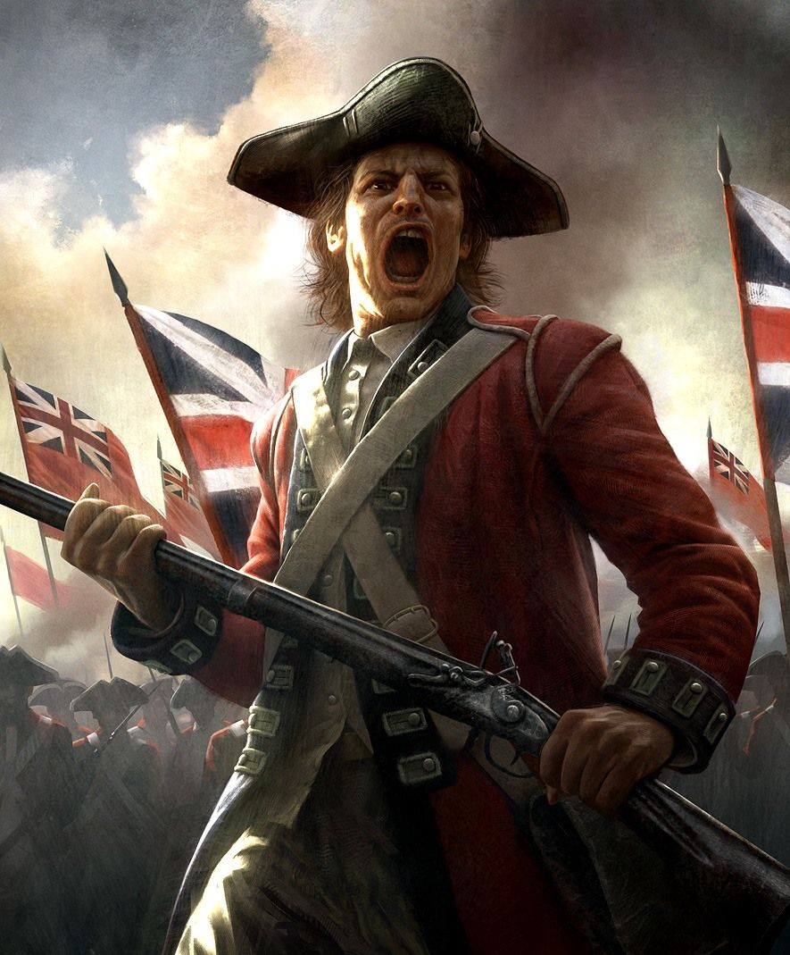 British Redcoat American Revolution Art Empire total