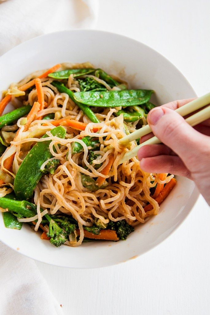 Shirataki Noodles With Almond Butter Sauce Vegan Paleo
