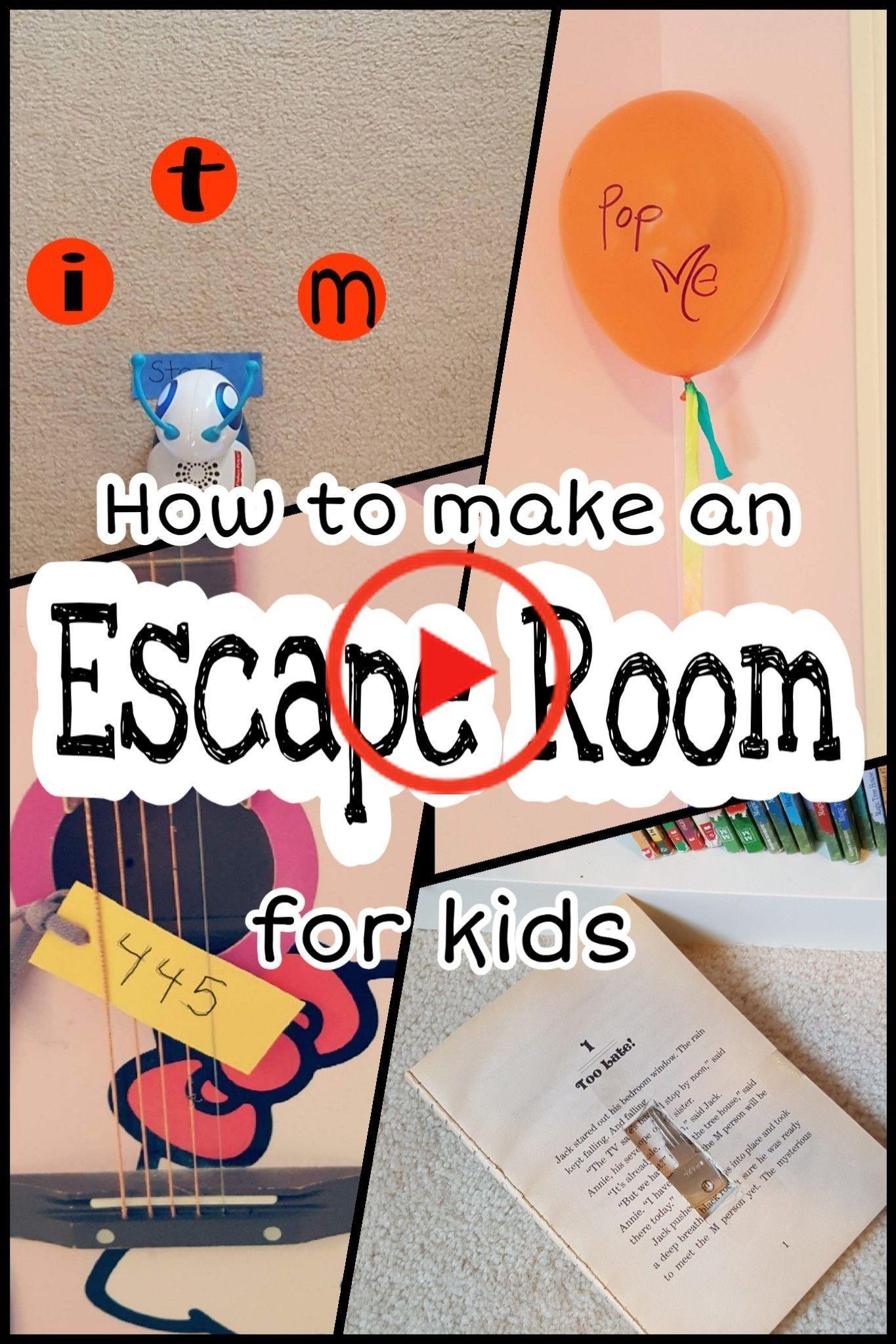 Escape room for kids in 2020 kinderfeest activiteiten