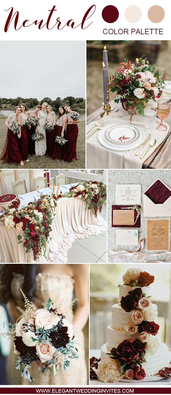 Wedding decorations clipart december 2018  SwoonWorthy Neutral Wedding Color Palette Ideas in