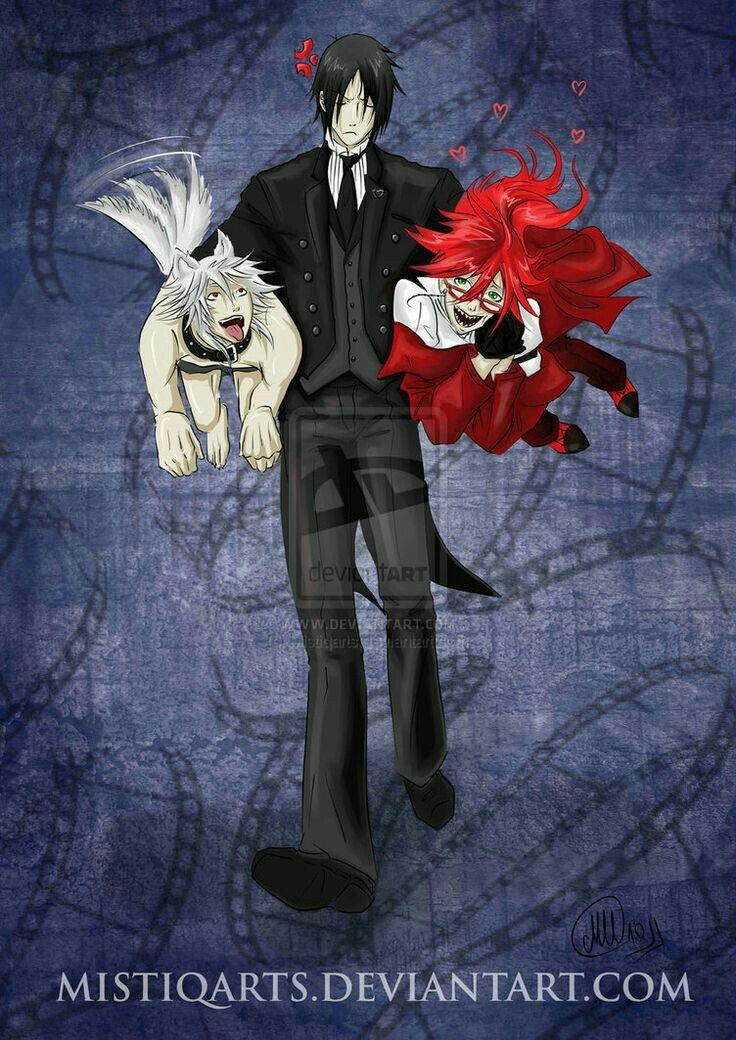 Pluto, Sebastian Michaelis (Devil/Teufel) & Grell Sutcliff