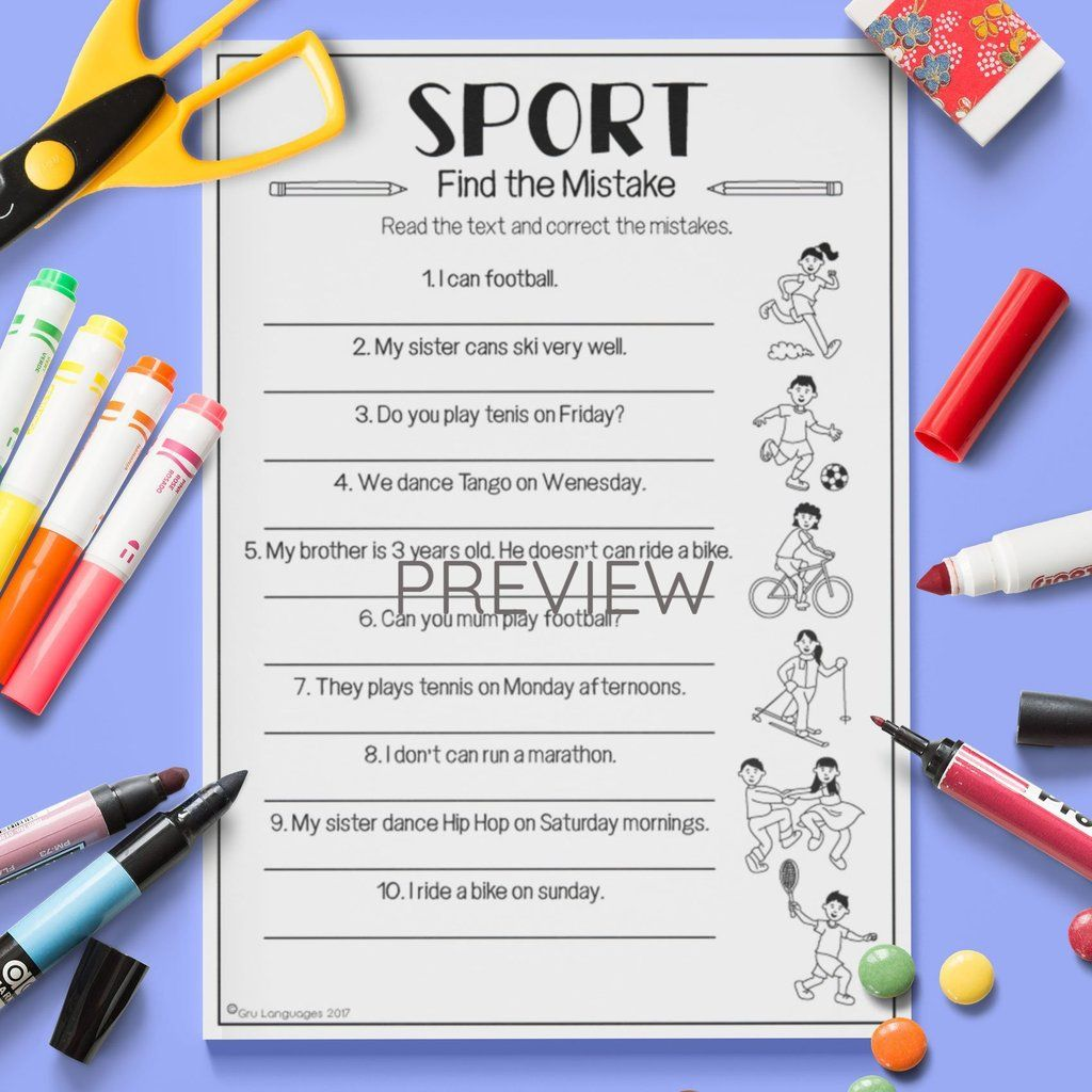 Sport Find The Mistake