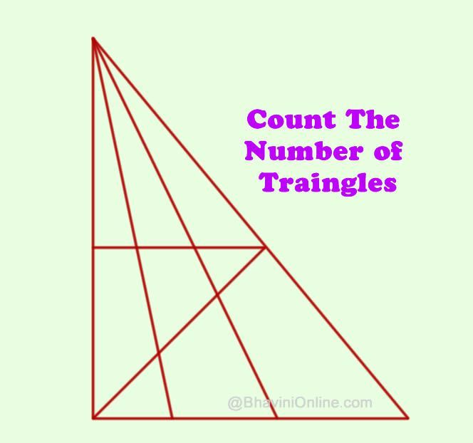 Count The Number Of Triangles In The Picture Raadsels