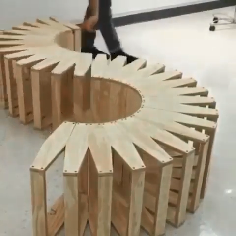 Incredible Coil Bench -  Engineering &  Woodworkin
