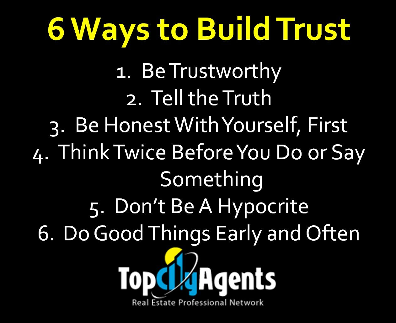 6 Ways to Build Trust Real Estate Tip For Realtor, Real