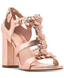8bbb5adf2f5 MICHAEL Michael Kors Women s Tricia Block-Heel T-Strap Dress Sandals ...