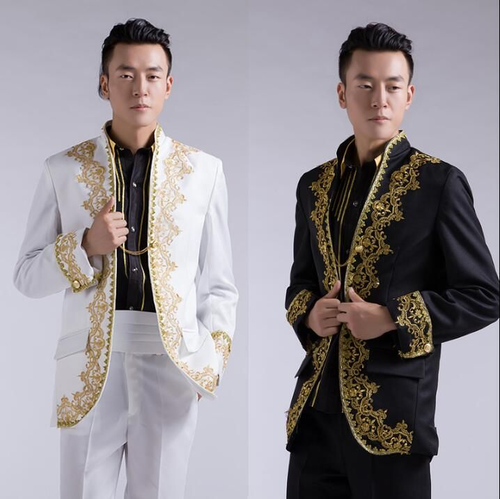 Click To Buy Stage Fashion Blazer Men Formal Dress Latest Coat