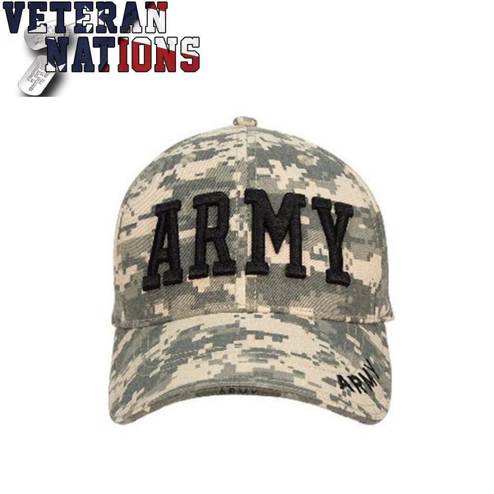 51c001f2bf174 Buy US Army Military ACU Digital Camo Veteran Baseball Ball Hat Cap ...