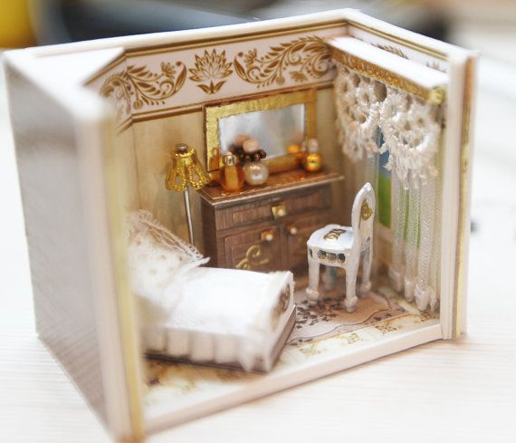 Dollhouse Miniature RoomBox living room Scale 1:12 by shopKristi