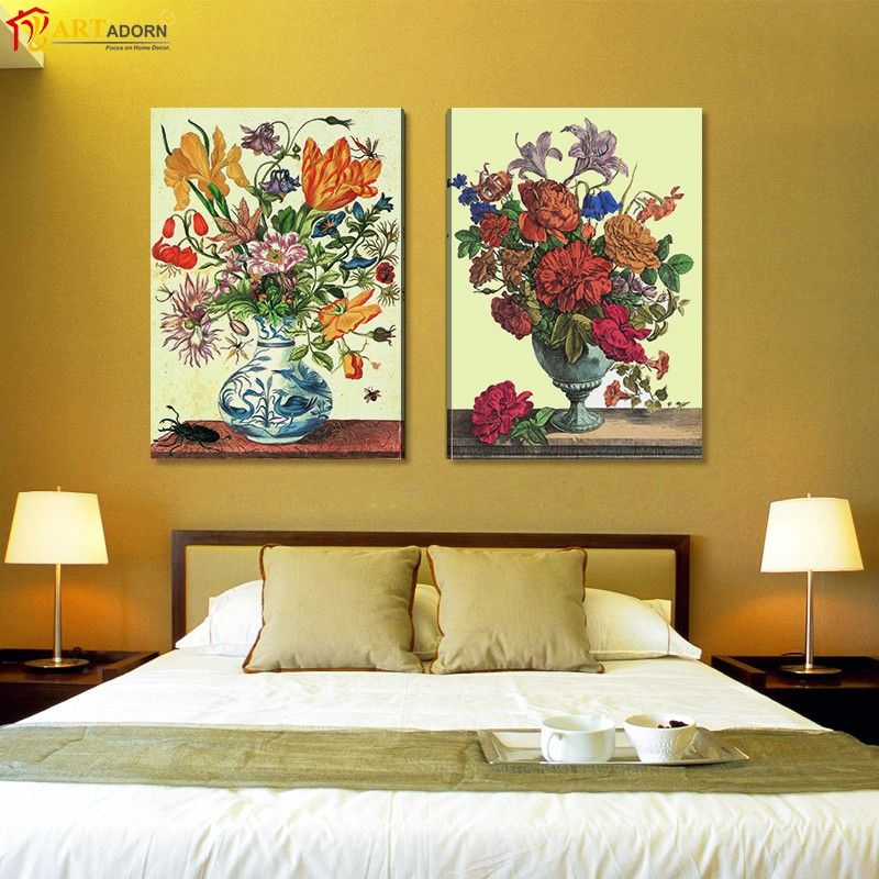 Modern Home Decor Abstract Canvas Painting Beautiful Flower in the ...