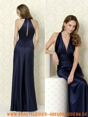 neckholder ausgefallenes schwarzes abendkleid  abendkleid brautjungfernkleider lang und langes