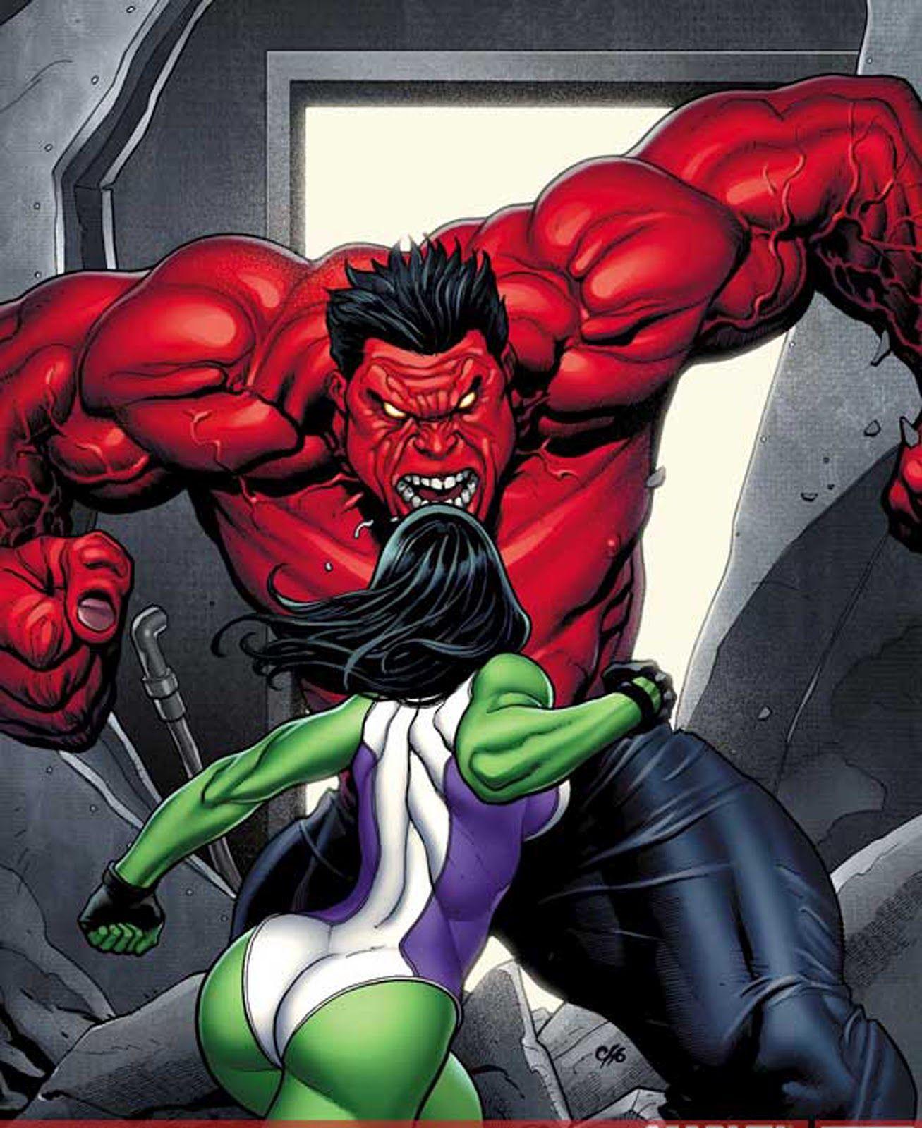 she xxx Red hulk hulk x