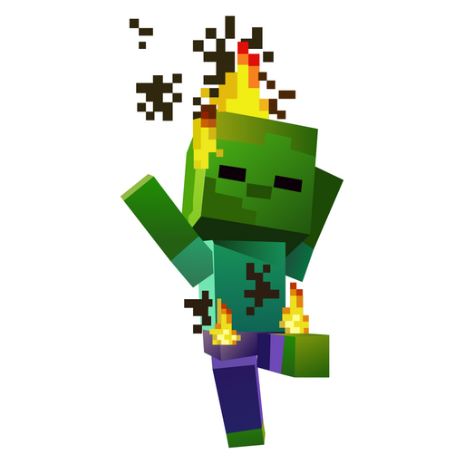 Minecraft Burning Baby Zombie Sticker Minecraft Stickers Minecraft Baby Zombie