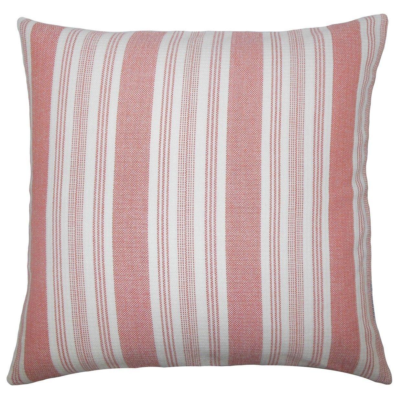 Reiki Striped Cotton Throw Pillow
