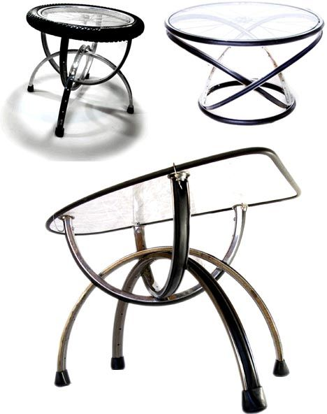 Bike Furniture From Recycled Parts, Recycled Bike Furniture